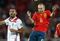 دیدار اسپانیا و مراکش برنده نداشت