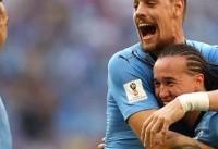 اروگوئه با پیروزی مقابل روسیه صدرنشین شد/ نماینده آمریکای جنوبی در ...