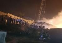 فیلم: آتش مهیبی که مسافران سنندج تهران را سوزاند