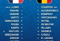 فرانسه صفر - بلژیک صفر