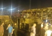 برخورد مرگبار تانکر حمل قیر با اتوبوس مسافربری در سنندج