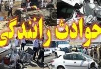 ۲۰ مجروج بر اثر تصادف اتوبوس با کامیون