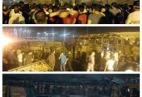 مرگ ۱۱ نفر بر اثر تصادف اتوبوس با تانکر سوخت / سه روز عزای عمومی در کردستان +تصاویر