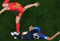 تا دقیقه ۵۷/ فرانسه یک- بلژیک صفر