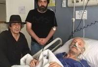 عکس | پسران جمشید مشایخی بر بالین پدر در بیمارستان