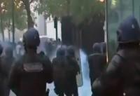 جشن قهرمانی فرانسه به خشونت کشید + فیلم