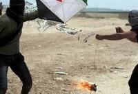 ۱۷ آتش سوزی در مناطق مختلف شهرکهای صهیونیستی اطراف غزه