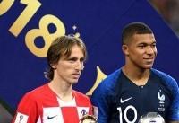 مودریچ بهترین بازیکن جام شد/ عنوان بهترین بازیکن جوان برای امباپه