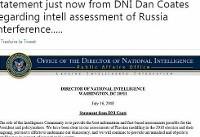 مدیر سازمان امنیت ملی آمریکا: دخالت روسیه در انتخابات ۲۰۱۶ روشن است