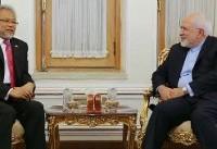 دبیرکل جدید سازمان دی هشت با ظریف دیدار کرد