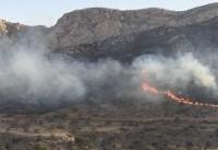 جرقه انفجار معدن یک هکتار از جنگلهای نیلکوه را طعمه حریق کرد