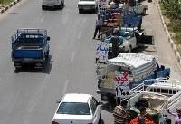 وانتهای سد معبر کننده از معابر منطقه ۱۱ جمعآوری و توقیف شدند