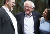 Sanders, Ocasio-Cortez rally Democrats in deep-red Kansas