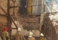 ۳ کشته و زخمی بر اثر ریزش آوار در خیابان مجیدیه شمالی