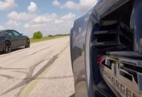 1,000-HP Hennessey Charger Hellcat Races A Stock Corvette Z06