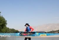 حضور مربی نزدیک به خانم نائب رئیس در مسابقات جهانی قایقرانی