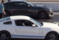 Supercharged Showdown: Mustang Shelby GT500 Battles Camaro ZL1