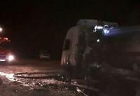 تصادف اتوبوس با تانکر در محور کاشان - نطنز ۲۰ مصدوم برجای گذاشت