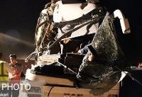 تصادف تریلی با اتوبوس زائران عراقی یک کشته برجای گذاشت