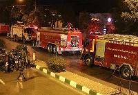 حریق گسترده در ساختمان دو طبقه در خیابان سراج