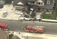 The Latest: Man flew plane into home after domestic incident