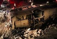 تصادف تریلی با اتوبوس زائران عراقی / یک کشته و ۲۲ زخمی