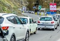 ترافیک نیمه سنگین در محور کرج- چالوس و هراز/اسامی محورهای مسدود