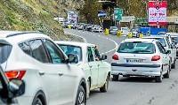 ترافیک سنگین در محور کرج- تهران