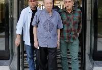 هنرمندان در منزل عزتالله انتظامی/علی نصیریان به دیدار همبازی قدیمیاش رفت