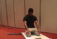 نماز حسن یزدانی پیش از دیدار فینال + عکس