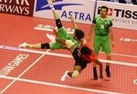 بازی های آسیایی جاکارتا / شکست تیمملی سپکتاکرا ایران مقابل میزبان