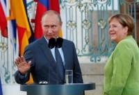 کنفرانس خبری مشترک پوتین و مرکل