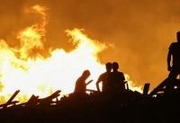 آتشسوزی گسترده در نخلستانهای «خنافره» شادگان