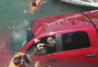 Dramatic Rescue of Woman, Son and Chihuahua Caught on Camera at California Marina