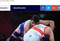 بازتاب عملکرد کشتیگیران ایرانی در سایت اتحادیه جهانی