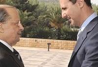 رایزنی تلفنی رییس جمهور لبنان با اسد