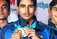 رکوردشکنی نوجوان ۱۶ ساله هندی در تیراندازی بازی های آسیایی جاکارتا