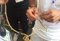 زنجیر پاره ای که مدال را از دختر ایرانی گرفت