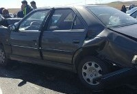 تصادف زنجیرهای ۱۰ خودرو در محور عجب شیر - آذرشهر
