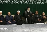 دومین شب عزاداری اباعبدالله حسین(ع) با حضور رهبر انقلاب (عکس)