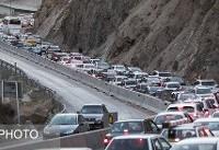 ترافیک در جادههای قم و هراز / اعمال محدودیت ترافیکی از بعدازظهر