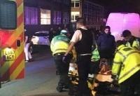 برخورد یک خودرو با جمعیت در مقابل مسجدی در لندن/۲ نفر مجروح شدند+تصاویر