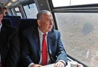 Netanyahu tests Israeli fast train from Jerusalem to Tel Aviv