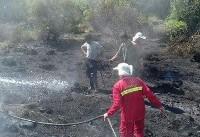 ۳ هکتار از اراضی میانکاله در آتش سوخت