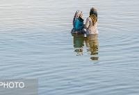 خطر گسترش کانون گرد و غبار در حاشیه دریاچه ارومیه + فیلم