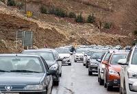 ترافیک در آزادراه کرج-تهران سنگین است/ انسداد محور ایلام-اسلام آباد غرب
