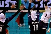 شکست بانوان والیبالیست مقابل کره جنوبی/تلاش برای مقام هفتمی
