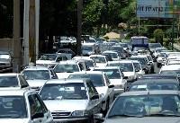 ترافیک در محور آزادراه تهران_کرج نیمه سنگین است