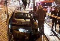 تصاویر/ ورود پژو ۲۰۶ به مغازه خشکبارفروشی بعد از تصادف با پراید!