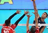 والیبال ایران به تیم دوم آمریکا هم باخت و حذف شد